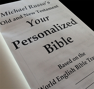 Your Personalized Bible cover page