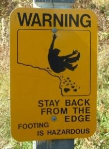 Too close to the edge